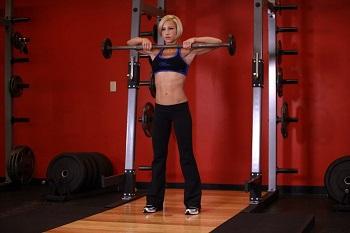 Вертикальная тяга штанги, женщины