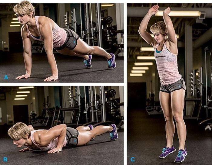 Упражнение бёрпи, женщины