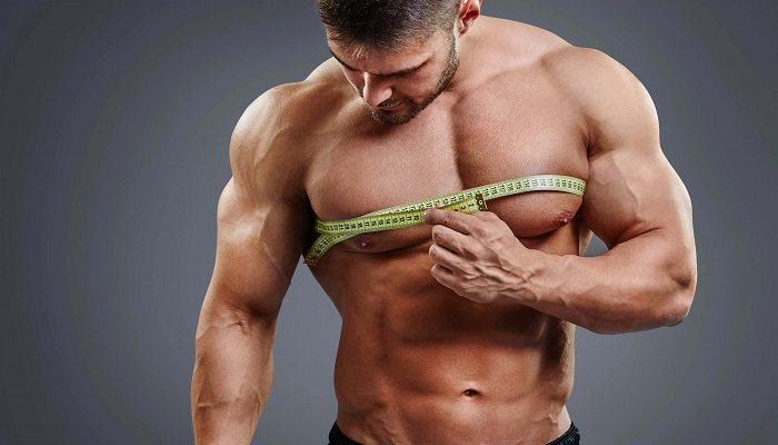 Объём грудных мышц, замеры