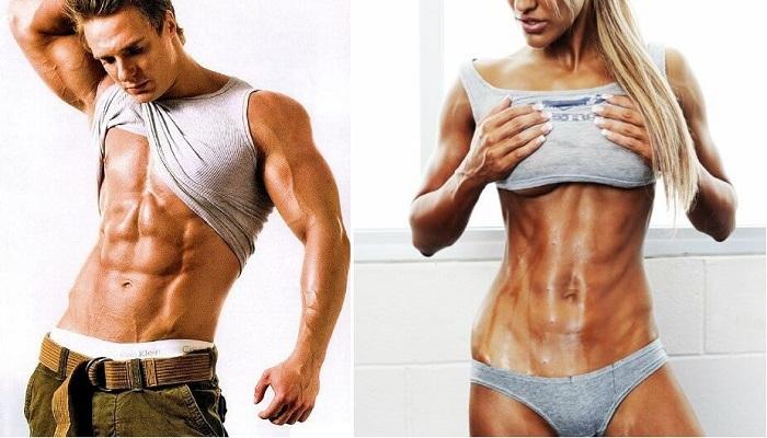 Фитнес, мужчина, женщина