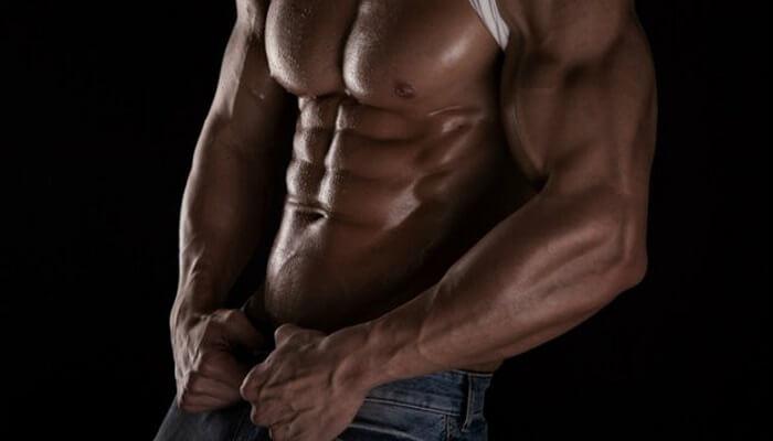 Тренировка мышц живота: пресс 6 кубиков.