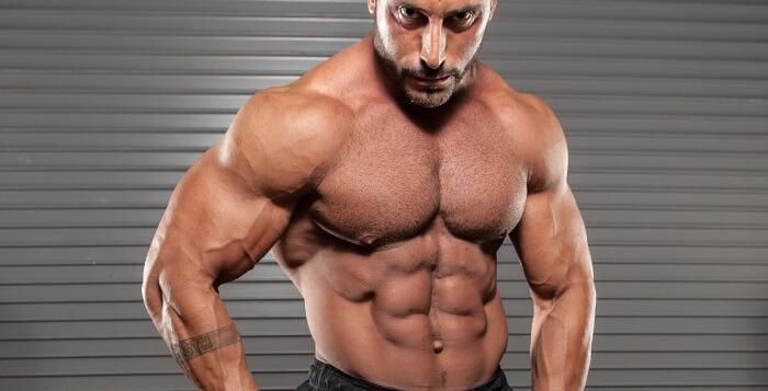 Мышцы пресса, мужчина, атлет