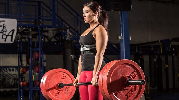 Становая тяга со штангой. женщины