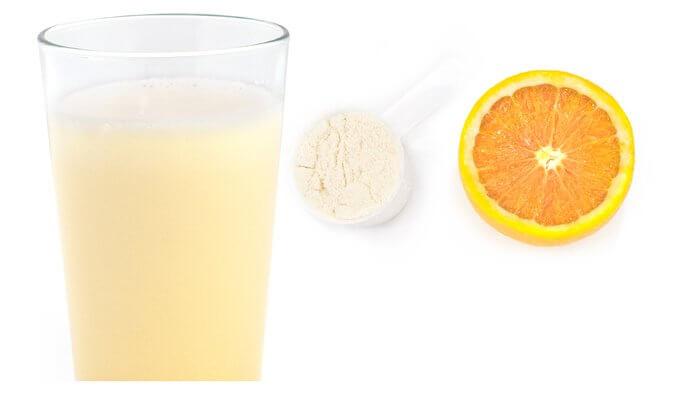 Апельсиновый белковый коктейль