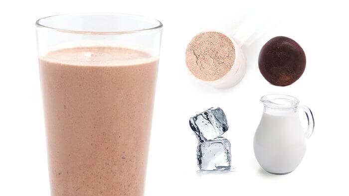Шоколадный коктейль с мятой