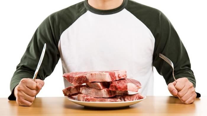 Тарелка с мясом