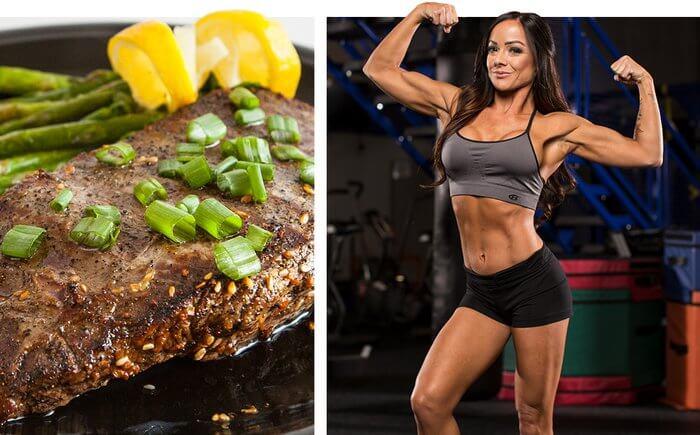 Спортсменка и продукты питания