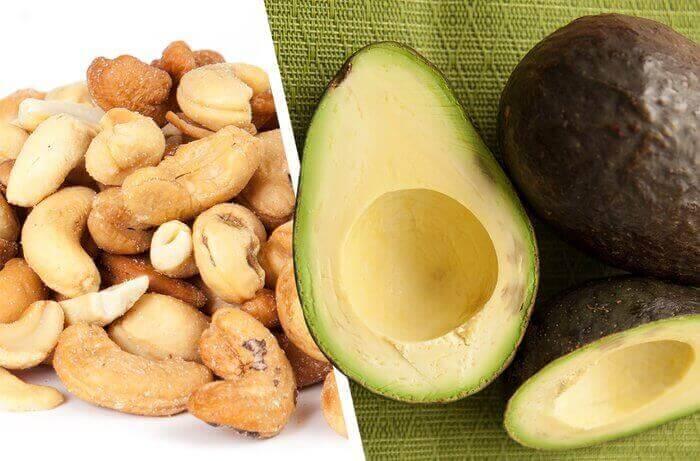 Орехи и авокадо